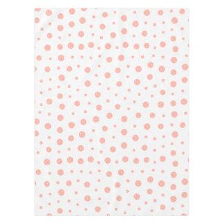 Toalha De Mesa Bolinhas elegantes - branco cor-de-rosa macio do