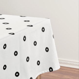 Toalha De Mesa Bolinhas pretas/brancas - cor variável do fundo