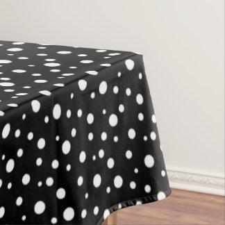 """Toalha De Mesa Bolinhas pretas & brancas do Tablecloth """"60x84"""""""