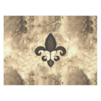 Toalha De Mesa Borboleta de Tan Brown do Sepia da mesa   da flor