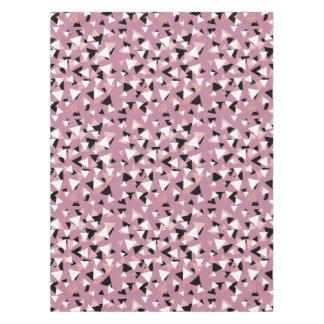 Toalha De Mesa Brilho cor-de-rosa do ouro dos triângulos