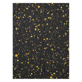 Toalha De Mesa Brilho Stars3 - Preto do ouro