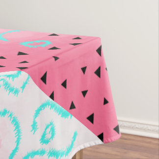 Toalha De Mesa brushstroke geométrico do rosa do teste padrão do