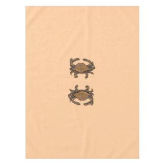 Toalha De Mesa Caranguejo de cobre no creme