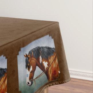 Toalha De Mesa Cavalo Brown do Pinto da baía do nativo americano
