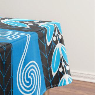 Toalha De Mesa Cerceta azul e teste padrão grego cinzento