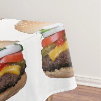 Toalha De Mesa cheeseburger delicioso com fotografia das