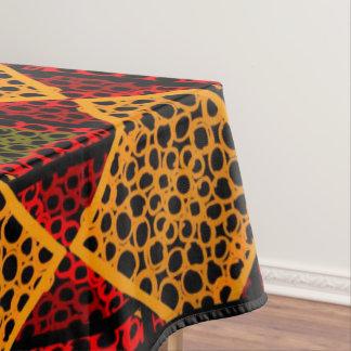 Toalha De Mesa Cobertura Jimette Desenho cor de laranja vermelha