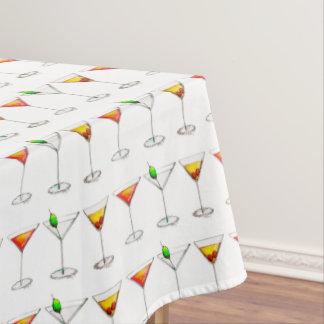 Toalha De Mesa Cocktail cosmopolitas das bebidas de Martini