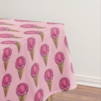 Toalha De Mesa Comida cor-de-rosa da sobremesa de sorvete do cone