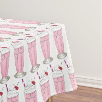 Toalha De Mesa Comida da fonte de soda do batido do rosa da loja