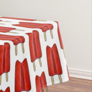 Toalha De Mesa Comida vermelha do verão do Lolly de gelo do