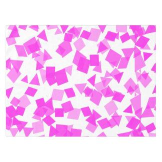 Toalha De Mesa Confetes cor-de-rosa brilhantes no branco