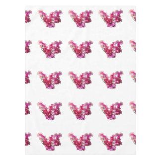 Toalha De Mesa Coração cor-de-rosa da ervilha doce