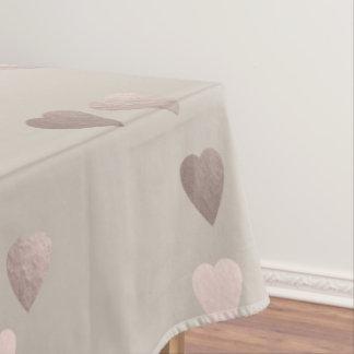 Toalha De Mesa corações cor-de-rosa claros simples do amor do