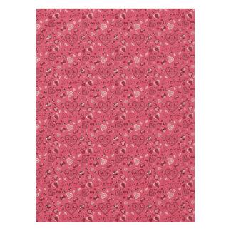 Toalha De Mesa Corações cor-de-rosa e Tablecloth feito sob