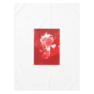 Toalha De Mesa Corações vermelhos com asas