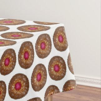Toalha De Mesa Cozimento do biscoito do Natal do Torte de Linzer
