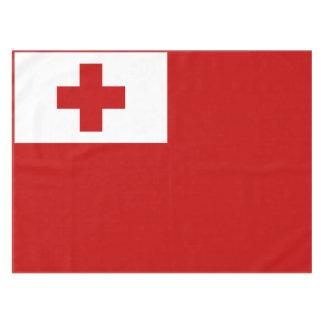 Toalha De Mesa Cruz vermelha da bandeira da ilha de Tonga