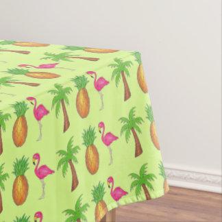 Toalha De Mesa Da palmeira cor-de-rosa do flamingo do abacaxi
