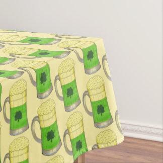 Toalha De Mesa De St Patrick irlandês do trevo da cerveja verde o