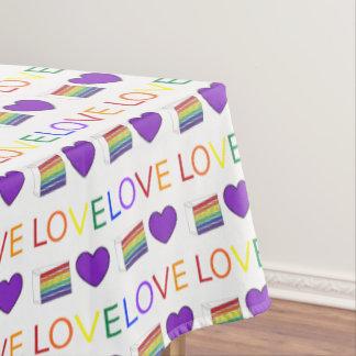Toalha De Mesa Decoração do casamento do bolo LGBT do orgulho gay