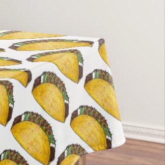 Toalha De Mesa Decoração dura do impressão do Tacos do Taco de