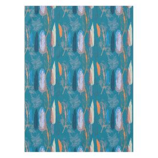 Toalha De Mesa Design decorativo das penas no azul