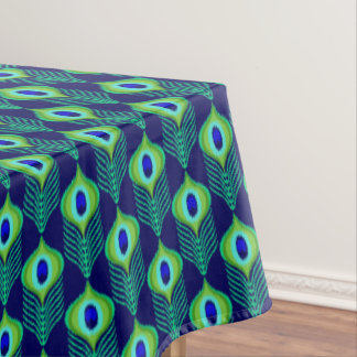 Toalha De Mesa Design marroquino do ikat das penas do pavão