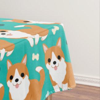 Toalha De Mesa Do cão bonito do Corgi de Kawaii teste padrão