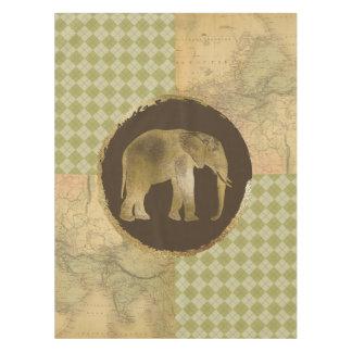 Toalha De Mesa Elefante africano no mapa e no Argyle