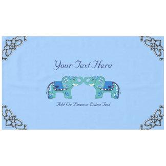 Toalha De Mesa Elefante do Henna (azul/luz - azul)