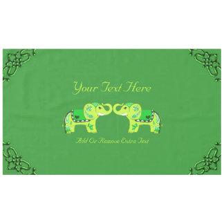 Toalha De Mesa Elefante do Henna (verde/verde limão)