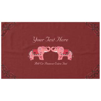 Toalha De Mesa Elefante do Henna (vermelho/rosa)