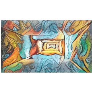 Toalha De Mesa Entrada a além, dreamscape abstrato da expressão