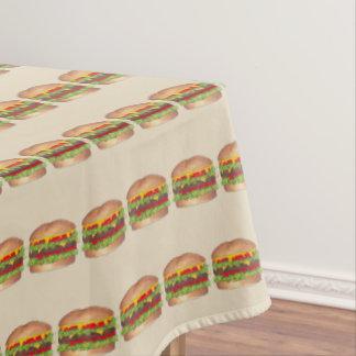 Toalha De Mesa Fast food do cheeseburger do hamburguer do