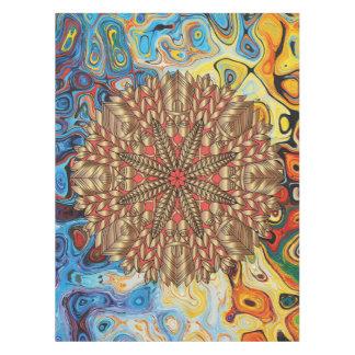 Toalha De Mesa Festival vermelho da natureza da queda do ouro