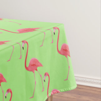 Toalha De Mesa Flamingo cor-de-rosa tropical do Tablecloth