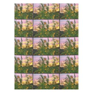 Toalha De Mesa Flor no pano de mesa do por do sol