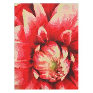 Toalha De Mesa Flor vermelha grande