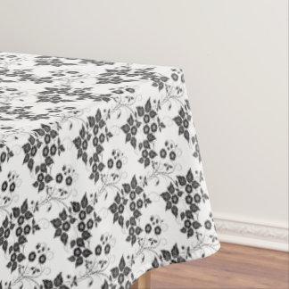 """Toalha De Mesa Floral preto & branco do Tablecloth """"60x84"""""""