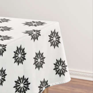 "Toalha De Mesa Floral preto do Tablecloth ""60x84"""