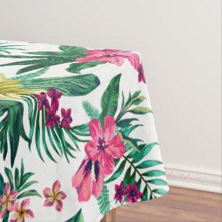 Toalha De Mesa Flores cor-de-rosa e amarelas havaianas