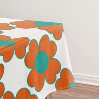 Toalha De Mesa Flores do coração da água da tangerina e da