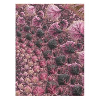 Toalha De Mesa Fractal cor-de-rosa