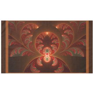 Toalha De Mesa Fractal moderno abstrato luminoso do vermelho