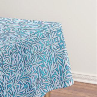 Toalha De Mesa Frondoso azul e branco