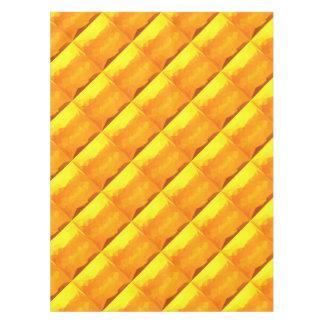 Toalha De Mesa Fundo do polígono do abstrato do amarelo do Cyber