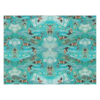 Toalha De Mesa Golfinho que sonha o Tablecloth aborígene da arte