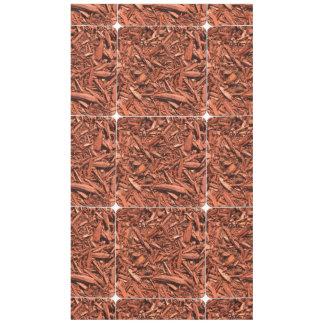 Toalha De Mesa Grande Mulch do cedro vermelho para o desenhista